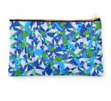 Geometric abstraction in blue and green Studio Pouch