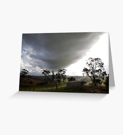 skyscapes #51, big cloud Greeting Card