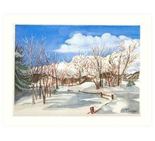 Snowmass Art Print