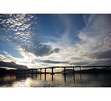 skyscapes #53, lightshow over the Tasman Bridge Photographic Print