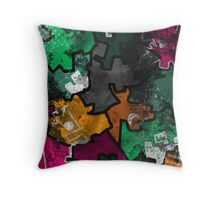 Grunge Castle Throw Pillow