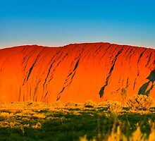 Northern Territory - Uluru - Sunset at the rock 1 by Geoffrey Thomas