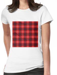 TARTAN-RED Womens Fitted T-Shirt