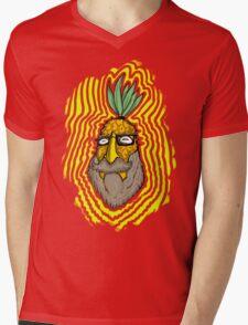 Pineapple Head Mens V-Neck T-Shirt