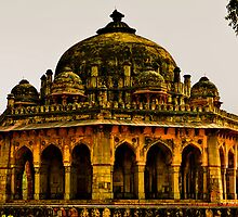 North India - Humayun's Courtier's tomb by Geoffrey Thomas