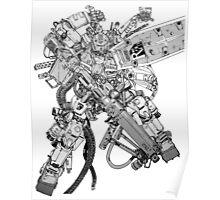 over weaponized gundam Poster