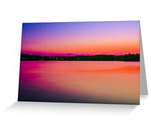 Peaceful Sun Dusk Greeting Card