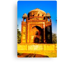 North India - Humayun's  tomb - New Delhi 3 Canvas Print