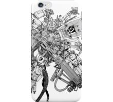over weaponized gundam iPhone Case/Skin
