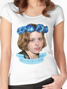 corin tucker - now is the time to invent!!!!!! Women's Fitted Scoop T-Shirt