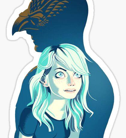Birdman & daughter Sticker