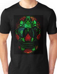 Ornate Day of the Dead Sugar Skull Unisex T-Shirt