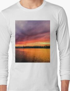 Colorful Sunset in Boston, Ma Long Sleeve T-Shirt