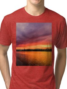 Colorful Sunset in Boston, Ma Tri-blend T-Shirt