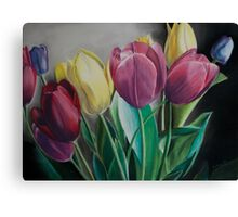 Rainbow of Tulips Canvas Print