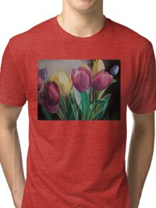 Rainbow of Tulips Tri-blend T-Shirt