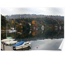 Misty autumnal reflections Poster