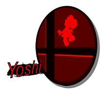 Smash Bros. Yoshi Tag Photographic Print