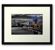 Black and White Blur with Color Framed Print