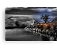 Black and White Blur with Color Canvas Print