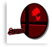 Smash Bros. Sonic Tag Canvas Print