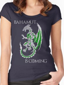 Bahamut Is Coming V2 Women's Fitted Scoop T-Shirt