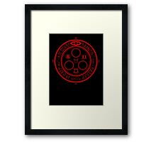 The Halo of the Sun (Red) Framed Print