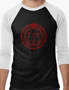 The Halo of the Sun (Red) Men's Baseball ¾ T-Shirt