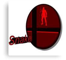 Smash Bros. Snake Tag Canvas Print