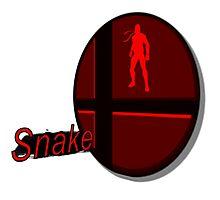 Smash Bros. Snake Tag Photographic Print