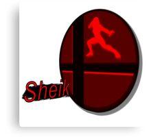 Smash Bros. Sheik Tag Canvas Print