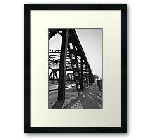 Steel Bridge and Shadows Framed Print