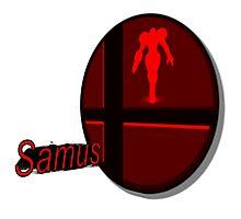 Smash Bros. Samus Tag Photographic Print