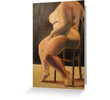 Thick Goddess in Chair (original for sale!!) Greeting Card