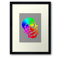 "Color ""Blob"" Skull Framed Print"