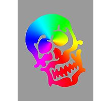 "Color ""Blob"" Skull Photographic Print"