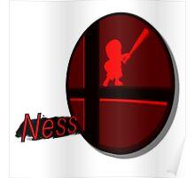 Smash Bros. Ness Tag Poster