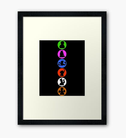 Crazy Silhouettes Framed Print