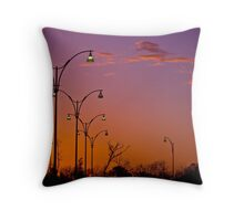 Street Lights at TAFE carpark Joondalup Western Aaustralia Throw Pillow