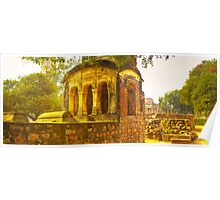 North India - Qutab Minar - New Delhi Poster