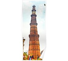 North India - Qutab Minar - New Delhi 2 Poster
