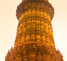 North India - Qutab Minar - New Delhi 3 by Geoffrey Thomas