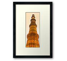 North India - Qutab Minar - New Delhi 3 Framed Print