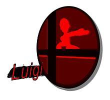 Smash Bros. Luigi Tag Photographic Print