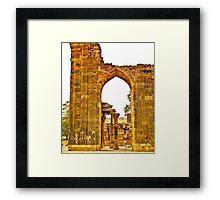 North India - Qutab Minar - New Delhi 5 Framed Print