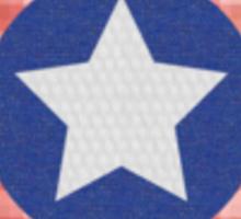 Fabric Captain America Shield Sticker
