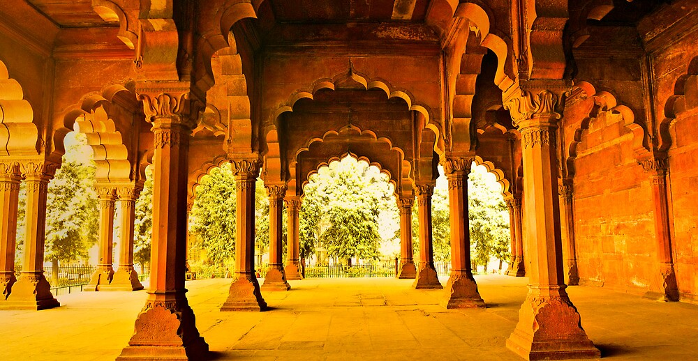 North India - Red Fort - New Delhi 2 by Geoffrey Thomas