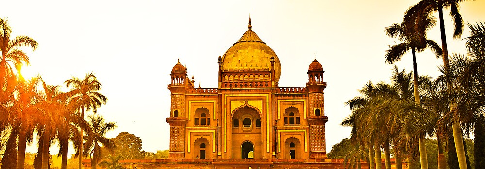 North India - Safdarjung's  tomb - New Delhi 2 by Geoffrey Thomas