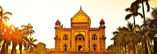 North India - Safdarjung's  tomb - New Delhi 2 by Geoffrey Thomas