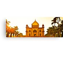 North India - Safdarjung's  tomb - New Delhi 2 Canvas Print